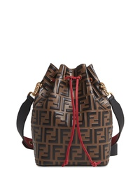 Fendi Mon Tresor Logo Leather Bucket Bag