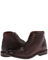 Dark Brown Leather Casual Boots