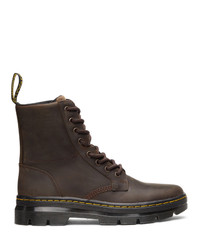 Dr. Martens Brown Combs Leather Boots