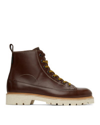 Ps By Paul Smith Brown Leather Buhl Boots