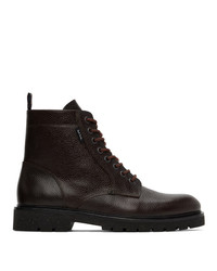 Ps By Paul Smith Brown Leather Fowler Boots