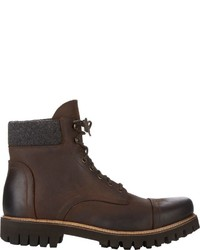 Barneys New York Burnished Cap Toe Boots Brown Size 7
