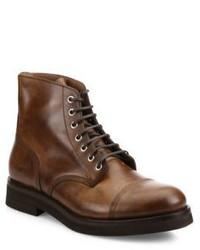 Brunello Cucinelli Cap Toe Leather Boots