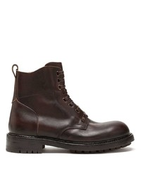 Dolce & Gabbana Cowhide Lace Up Ankle Boots