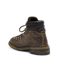 Guidi Crocodile Textured Boots