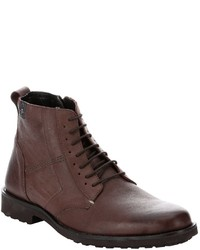 7 For All Mankind Dark Brown Leather Lace Up Boots