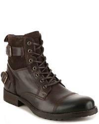 Aldo Gerrade Cap Toe Boot  Dark Brown