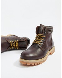 Jack & Jones Leather Lace Up Boots