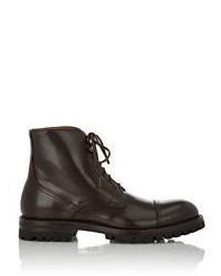 Antonio Maurizi Pinked Cap Toe Boots Dark Brown Size 11m