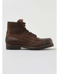 Topman Tan Leather Lace Boots