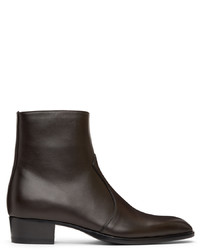 Saint Laurent Black Wyatt Zipped Boots