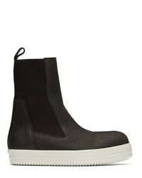 Rick Owens Brown Bozo Chelsea Boots