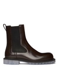 Bottega Veneta Brown Calfskin Chelsea Boots