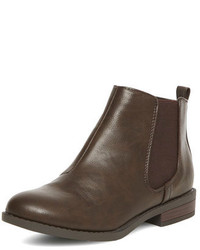 Dorothy Perkins Brown Chelsea Ankle Boots