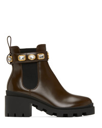 Gucci Brown Chelsea Boots