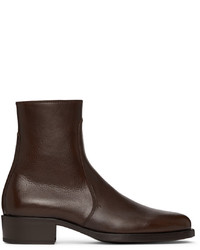 Lemaire Brown Classic Zip Up Boots