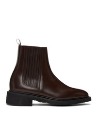 Thom Browne Brown Crepe Sole Chelsea Boots