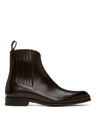 Brioni Brown Side Gusset Chelsea Boots
