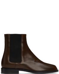 Maison Margiela Brown Tabi Chelsea Boots