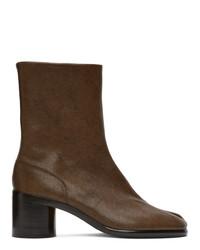 Maison Margiela Brown Tabi Vintage Boots