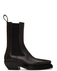 Bottega Veneta Brown The Lean Chelsea Boots
