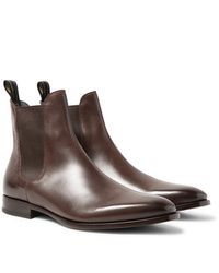 Dunhill Burnished Leather Chelsea Boots