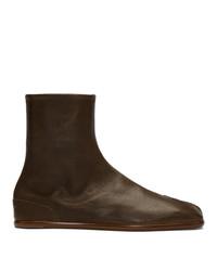 Maison Margiela Khaki Flat Tabi Boots