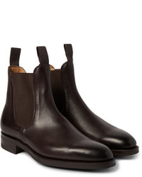 Edward Green Newmarket Grained Leather Chelsea Boots
