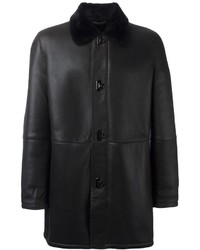 Salvatore Ferragamo Gancio Fastening Leather Coat