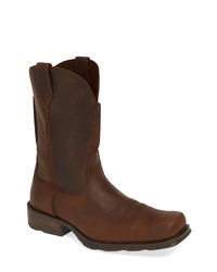 Dark Brown Leather Cowboy Boots
