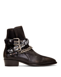 Amiri Black Bandana Boots