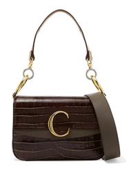 Chloé C Small Med Croc Effect Shoulder Bag