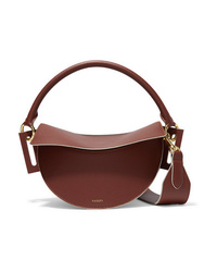 Yuzefi Dip Textured Leather Shoulder Bag