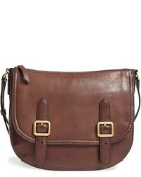 Frye Claude Leather Crossbody Bag Grey
