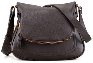 Tom Ford Jennifer Calfskin Crossbody Bag Brown