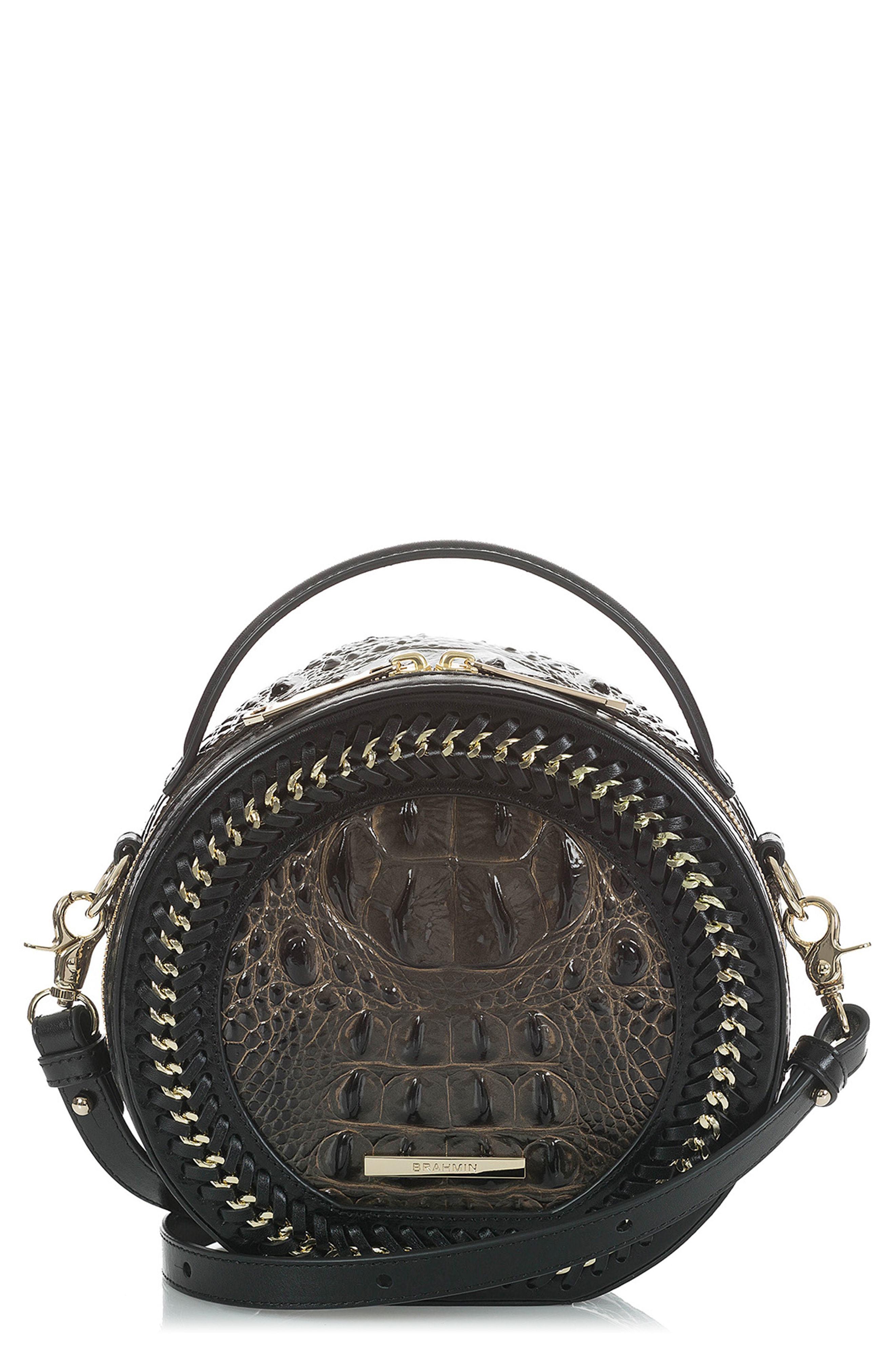 b0af5cb9c0a1 ... Brown Leather Crossbody Bags Brahmin Lane Croc Embossed Leather  Crossbody Bag