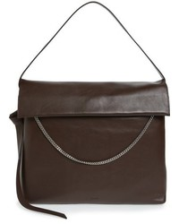 AllSaints Large Lafayette Leather Shoulder Bag Black
