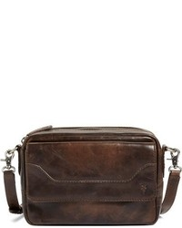 Frye Melissa Leather Camera Crossbody Bag Grey