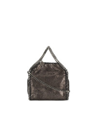 Stella McCartney Mini Metallic Pewter Falabella Shoulder Bag