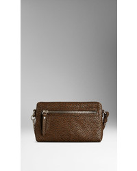 Burberry Mini Two Tone Grainy Leather Crossbody Bag