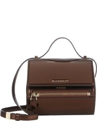 Givenchy Mirrored Mini Pandora Box Crossbody Brown