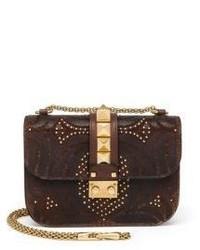 Valentino Rocklock Mini Embossed Leather Crossbody Bag