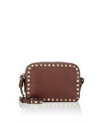 Valentino Rockstud Crossbody Brown