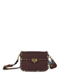 Valentino Rockstud Guitar Strap Leather Shoulder Bag