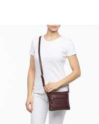 Rr Leather 3 Zip Leather Crossbody Bag