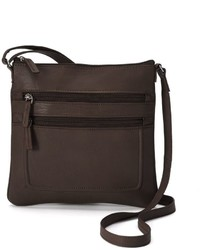Rr Leather Piped Crossbody Bag
