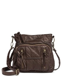 Mossimo Supply Co Distressed Crossbody Handbag With Front Pockets Brown