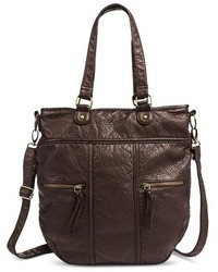 Mossimo Supply Co Tote Handbag With Removeable Crossbody Strap Brown Supply Cotm
