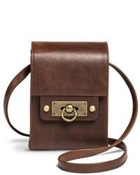 Mossimo Supply Co Turnlock Crossbody Handbag Brown