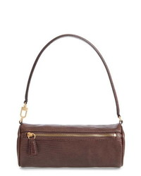 Staud Suzy Leather Barrel Baguette Bag